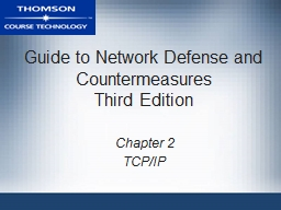 Guide to Network Defense and