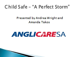 "Child Safe – ""A  P erfect Storm"""