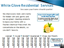 White Glove Residential  Services