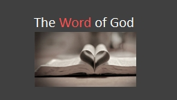 The  Word  of God Building on a solid foundation