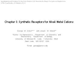 Chapter  3. Synthetic Receptors for Alkali Metal