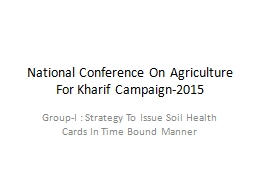 National Conference On Agriculture For