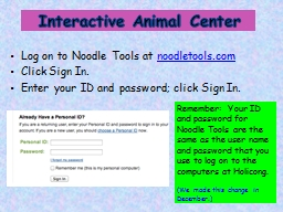 Log on to Noodle Tools at PowerPoint PPT Presentation