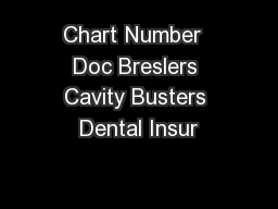 Chart Number  Doc Breslers Cavity Busters Dental Insur