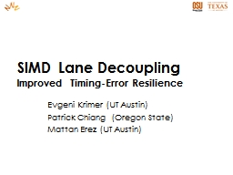 SIMD Lane Decoupling Improved Timing-Error Resilience