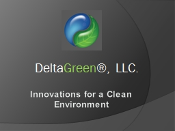 Innovations for a Clean Environment PowerPoint PPT Presentation