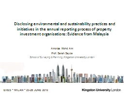 Disclosing environmental and sustainability practices and initiatives in the annual reporting proce