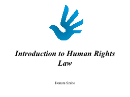 Introduction to Human Rights Law