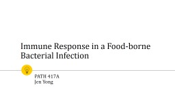 Immune Response in a Food-borne Bacterial Infection