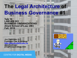 The  Legal Architecture