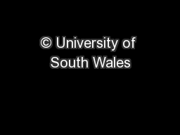 © University of South Wales
