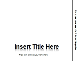 This is your cover page. Cut & discard this portion.
