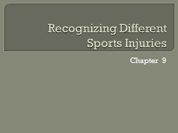 Recognizing Different Sports Injuries