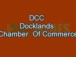 DCC Docklands Chamber  Of Commerce