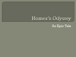 Homer's  Odyssey An Epic Tale