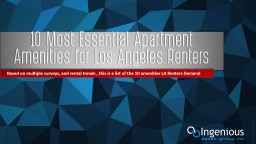 10 Most Essential Apartment Amenities for Los Angeles Renters