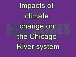 Impacts of climate change on the Chicago River system