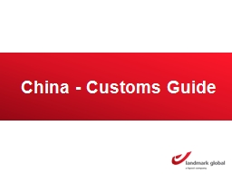 China - Customs Guide Duty and Tax Threshold