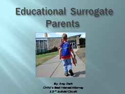 Educational Surrogate Parents