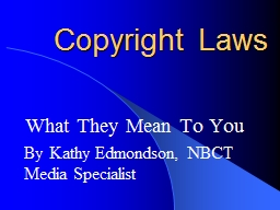 Copyright Laws What They Mean To You