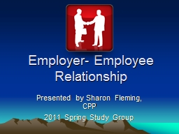 Employer- Employee Relationship