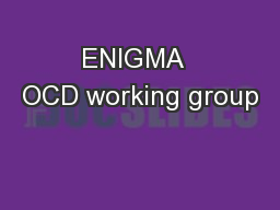 ENIGMA  OCD working group