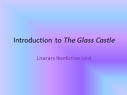 Introduction to  The Glass Castle