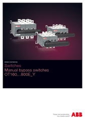 Switches Manual bypass switches OTEY Breakers and Swit