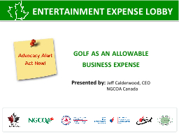 golf as an allowable  business expense