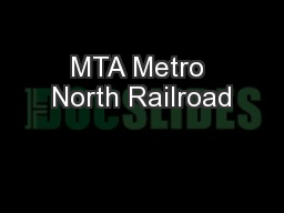 MTA Metro North Railroad