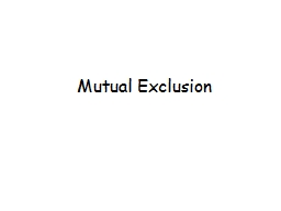 Mutual Exclusion Art of Multiprocessor Programming