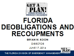 FLORIDA  DEOBLIGATIONS  AND
