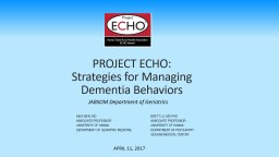 PROJECT ECHO: Strategies for Managing