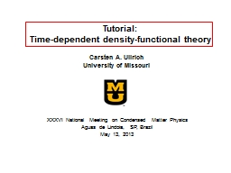 Tutorial: Time-dependent density-functional theory