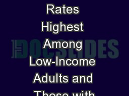 Underinsured Rates Highest Among Low-Income Adults and Those with PowerPoint PPT Presentation
