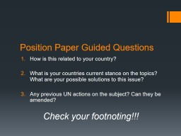 Position Paper Guided Questions