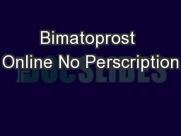 Bimatoprost Online No Perscription
