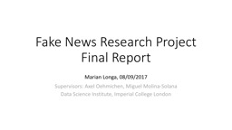 Fake News Research Project