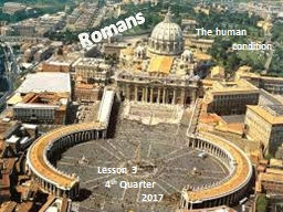 Romans The human       condition