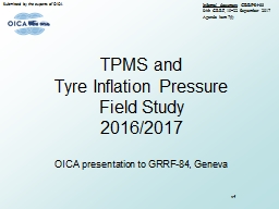 TPMS and  Tyre   Inflation Pressure