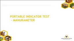 Portable indicator test