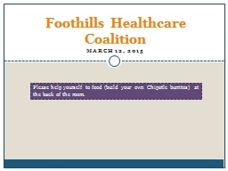 Foothills Healthcare Coalition