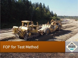 FOP for Test Method Significance