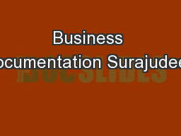 Business Documentation Surajudeen PowerPoint PPT Presentation