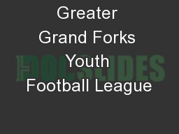 Greater Grand Forks Youth Football League