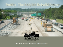 Fortify:  The I-40/440 Rebuild Project