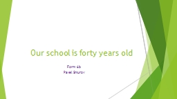 Our school is forty years old PowerPoint PPT Presentation