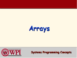 Arrays Systems  Programming Concepts PowerPoint PPT Presentation