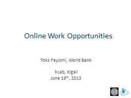 Toks Fayomi, World Bank kLab