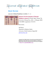 Book Review Journal of Global Buddhism      Heartwood